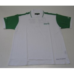 Sensas Polo Bicolore Wit & Groen