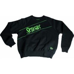 Sensas Sweatshirt ronde kraag, Zwart & Groen