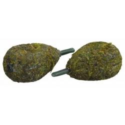 Starbaits Inline Flat Pear Weedy Green Lead i