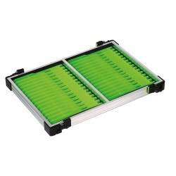 Tray met licht groene tuigenplank
