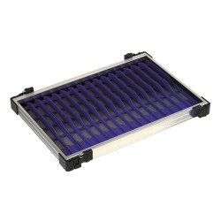 Tray met paarse tuigenplank